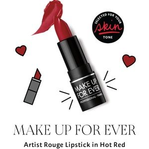 Mini Makeup Forever Lipstick in Hot Red